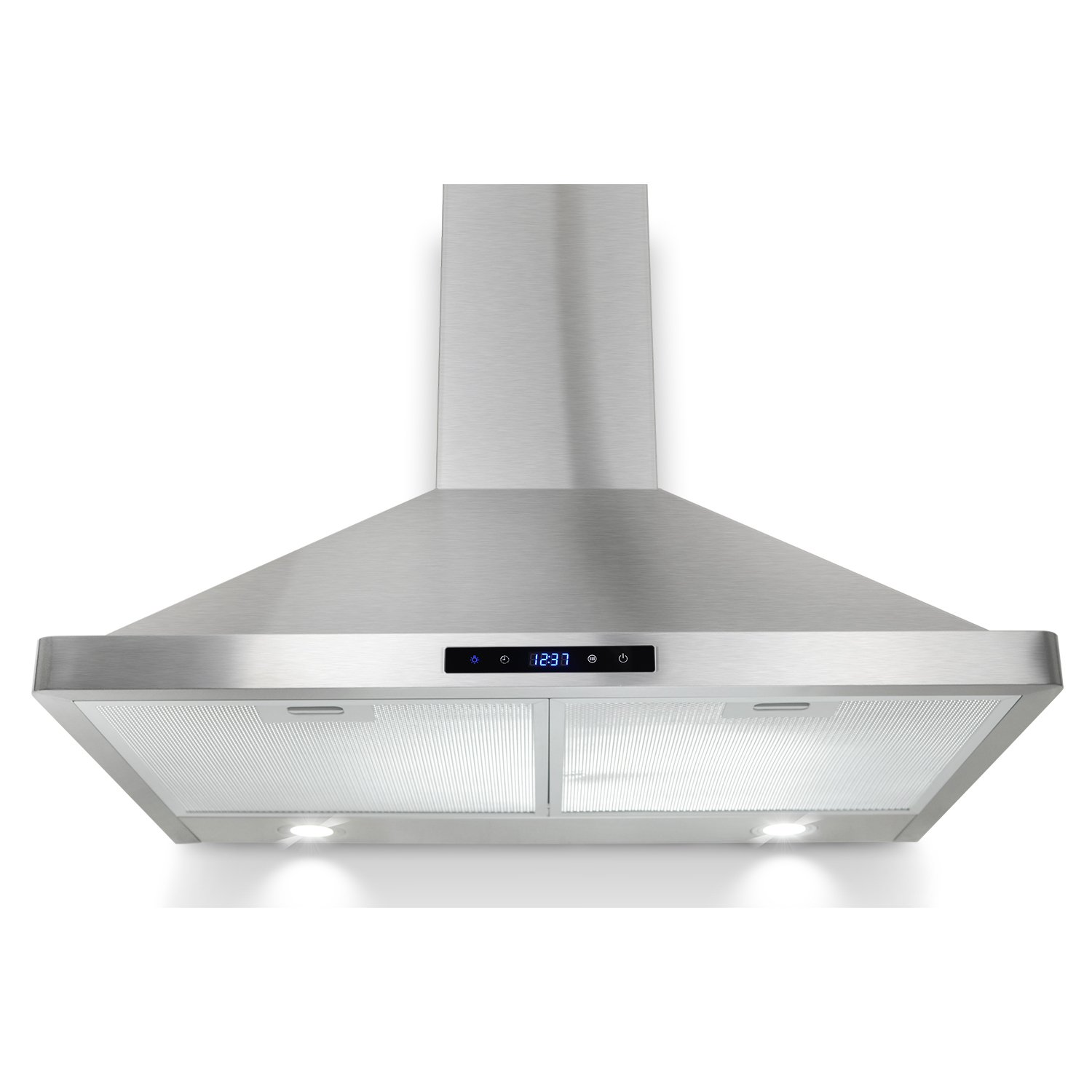 "AKDY® 30"" Kitchen Wall Mount Stainless Steel Touch Panel Control Range Hood LED Touch Control"