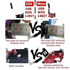 14 Bit PC SIM USB Handbrake for Racing Games G25/27/29 T500 FANATECOSW DIRT RALLY Black with Clamp (Color: 14 bit Black + Clamp)