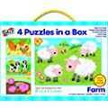Galt Toys Puzzles in a Box Farm (Pack of 4)