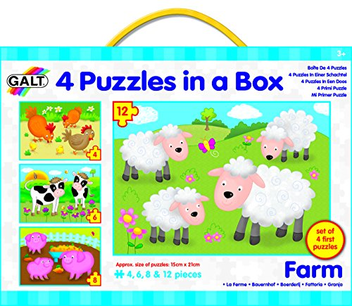 Galt Toys Inc Farm in a Box Puzzle, 4-Piece