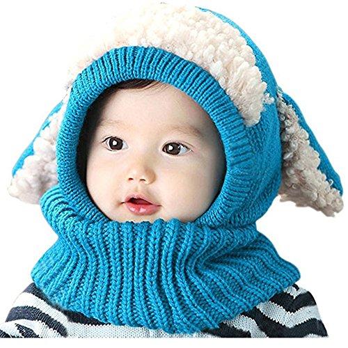 Bambino Aaldo Cappelli Cappelli Invernali Sciarpa Earflap Hood Maglia (Blu)