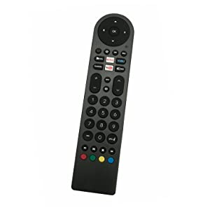 New Standard IR Remote Control fit for RCA Smart LED LCD TV WX15244 WX15284 WX15163 SLD32A30RQ SLD32A45RQ SLD40A45RQ SLD40HG45RQ SLD50A45RQ with Netflix Vudo You Tube Internet Shortcut App Key