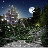 Princess Backdrop - Castle Terrace - 10x10 Ft. - 100% Seamless Fabric for Photographers