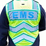 ULTRABRIGHT GREEN-EMS 6 Point Breakaway Public Safety Vest
