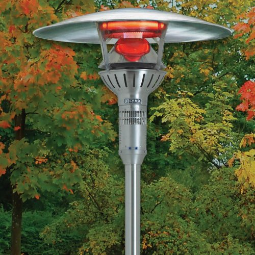 Lynx Post Mounted Infrared Outdoor Patio Heater, Natural Gas