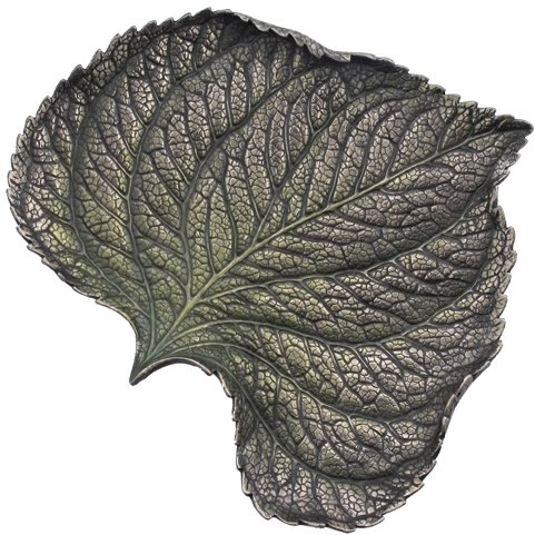 8.25 Inch Hydrangea Leaf Cold Cast Decorative