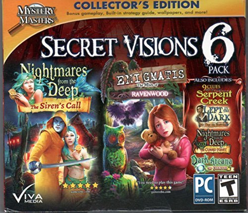 ENIGMATIS The Mists of Ravenwood + Nightmares from the Deep THE SIRENS CALL Hidden Object SECRET VISIONS 6 PACK - 1