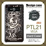 PTL21ケース カバー/VEGA PTL21 ハードケース/【sick】1010_New School tribal skull/CR【デザイナー】