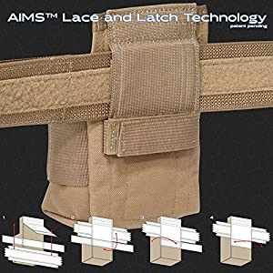 Atlas 46 AIMS Large Drill Holster - Right Handed, Black   Hand crafted in the USA (Color: Black, Tamaño: Right-Handed)