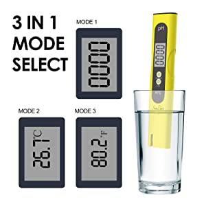 SimPure PH Meter, Digital Water Quality Tester with 0.01 PH High Accuracy, ATC 0-14 PH Measurement Range for Household Drinking, Hydroponics, Pool and Aquarium (Tamaño: ph meter)