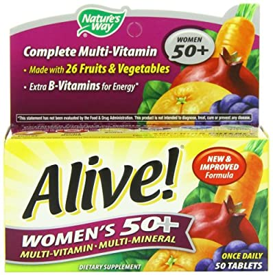 Alive Women's 50 Plus Multivitamin - Multimineral, 50 tabs by Nature's Way
