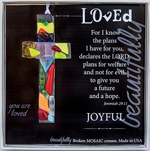 The Grandparent Gift Handmade Mosaic Loved Cross