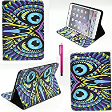 buy Ipad 4 Case, Casemart New Full Protective Premium Pu Leather Folio Stand Cover Case Wallet Style [Scratch-Resistant] Flexible Shell Case For Apple Ipad 2/3/4 -Owl