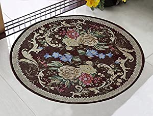 Memorecool modern pastoral country style area rugs round area rug carpet washable for Country style area rugs living room