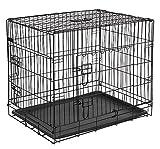 KERBL Cage de Transport pour Chiens 74 X 54 X 64 cm Noir 2 Portes