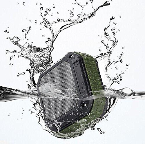 Dylan Bluetoothスピーカー 防水&防塵&耐衝撃 マイク内蔵 A2DP対応(アーミーグリーン)