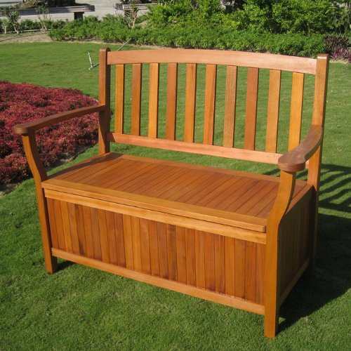 Royal Tahiti Hardwood Storage Bench