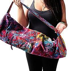 Hugger Mugger Batik Yoga Mat Bag, Blue [並行輸入品]