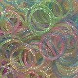 Ateamart 600pcs Glitter Stil Loom Bandz mit 25 S-Clips