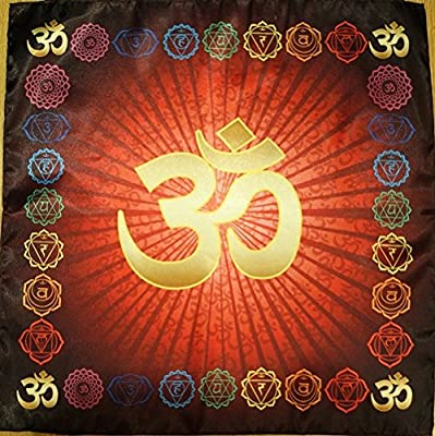 OM AUM Cloth Symbol Yoga Chakra Meditation Kissen Mat Fitness RED Muladhara