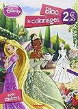 Disney Princesses - Bloc de coloriages avec stickers