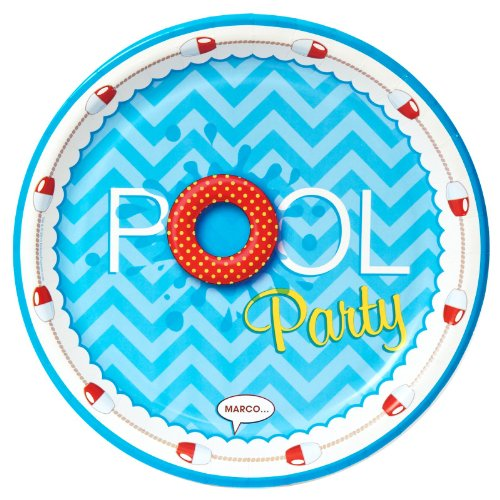 Splashin' Pool Party Dinner Plates (8)