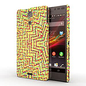 Koveru Designer Protective Back Shell Case Cover for SONY XPERIA ZR - Color Explosion