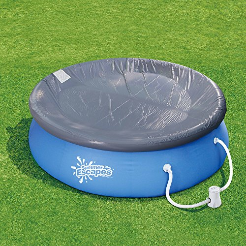 Summer escapes pool cover for 12 14 foot above ground for Garden pool accessories