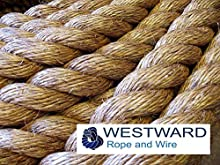 WESTWARD MANILA - Cuerda natural para cubiertas, jardines, barcos, juegos, escalada (24 mm). PRECIO POR METRO