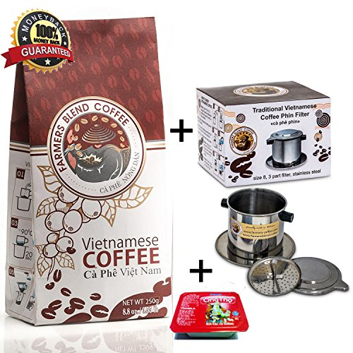 Gourmet Coffee Kit by Farmers Blend Vietnamese Coffee, a Unique Gift Idea to Surprise Your Friends and Family (Unique Coffee compare prices)