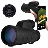 High Power Monocular Telescope 15X50 Monocular Scope with Tripod Smartphone Holder, HD Low Light Night Vision Scope, Waterproof Super Bright and Clear for Adults Bird Watching Wildlife MB15-1 (Tamaño: Fit Most)