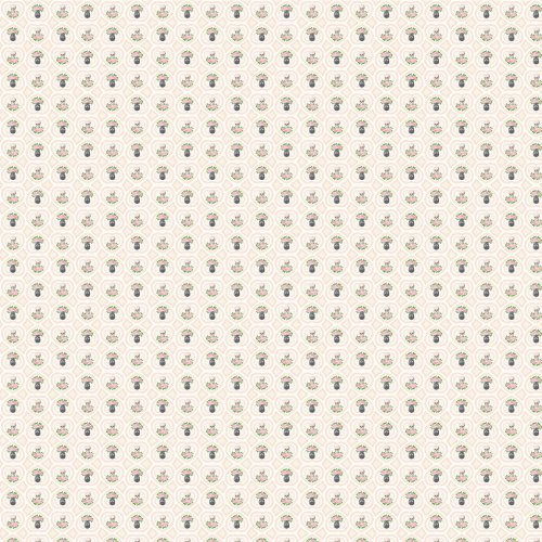 WallCandy Arts Hearts Skulls Wallpaper, White