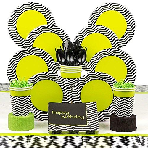 Lime/Black Chevron Standard Kit (Serves 8)