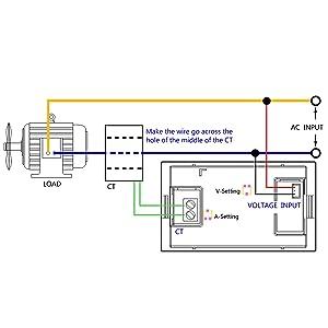 0.39 Inches LED 2in1 Multimeter AC 500V 200A Voltmeter Ammeter 2-Wires Digital Ammeter Volts Meter Tester AC Volts Meter Panel Ammeter Gauge with Current Transformer