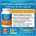 #1 Garcinia Cambogia Extract Pure, 1000 mg per Capsule, 90 Veg. Capsules - High Potency Garcinia Cambogia GOLD - Features Multi-patented SuperCitrimax® 60% HCA Bound to Potassium and Calcium - The Clinically-Proven Appetite Suppressant and Weight-loss Th