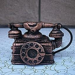YONG Retro phone home music box mini ornaments