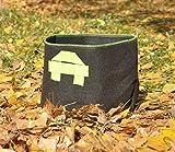 5 X 15 Gallon Fabric Grow Pots Grow Bags Smart Dirt Plant Nylon Handles