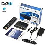 Freesat Full V7 HD Satellite TV Receivers 1080P DVB-S2 Digital Receptor FTA Signal Detector Support Decoder,Youtube,PVR,Powervu,DRE & Bisskey,USB WIFI
