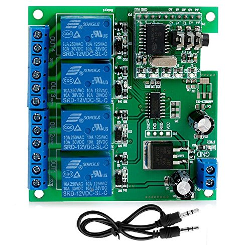 Kangnice 4-Channel DC 5V 9V 12V 24V Bluetooth Relay Module Wireless Remote Control Switch (Dtmf Module compare prices)