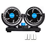 12V Fan Cooling Air Fan Powerful Dashboard Electric Car Fan Low Noise 360 Degree Rotatable with 2 Speed Adjustable for Vehicle Truck RV SUV or Boat (Color: 12V Fans, Tamaño: 12V Car Fan)