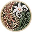 Duality - Cast Paper - Fantasy art - Dragon - Lily - Yin-Yang - Wall art