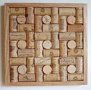 Wine cork trivet framed kitchen dining for Wine cork patterns
