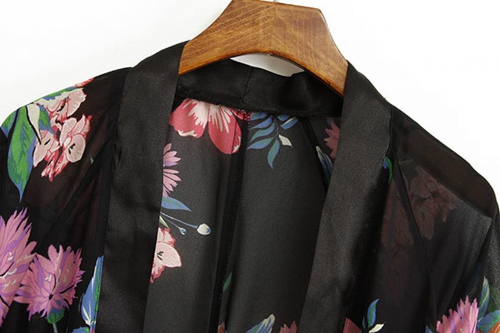 Kamaco Women Vintage Retro Ethnic Floral Tassels Loose Kimono Cardigan Coat Shawl 4