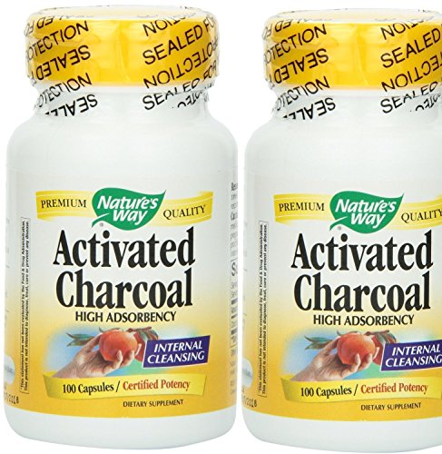 Nature's Way Charcoal, Activated (2 x 100) (Nature Way Activated Charcoal compare prices)