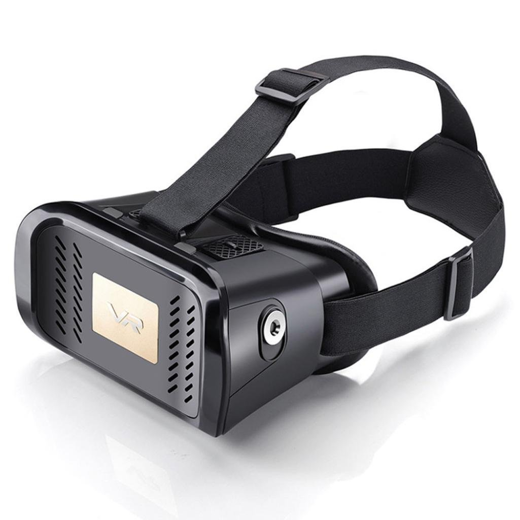 New Version 3D VR Virtual Glasses Headset.Adjust Cardboard 3D VR Virtual Reality Headset 3D Glasses .Suitable for Google, iPhone, Samsung Note, Moto and other 4.5-6 inch screen smartphone Black