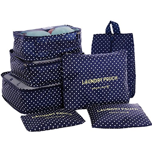 hiday-7-set-travel-cube-system-3-packing-cubes-3-pouches-1-premium-shoes-bag-perfect-travel-luggage-