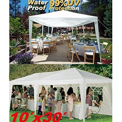Wedding Party Tent 10'X30' Camping Outdoor Easy Set Gazebo BBQ Pavilion Canopy