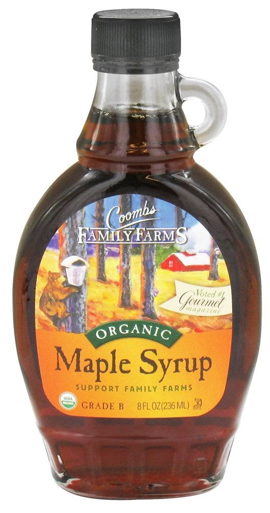 Coombs Family Farms Organic Maple Syrup, Grade B 8 oz. (Pack of 12)