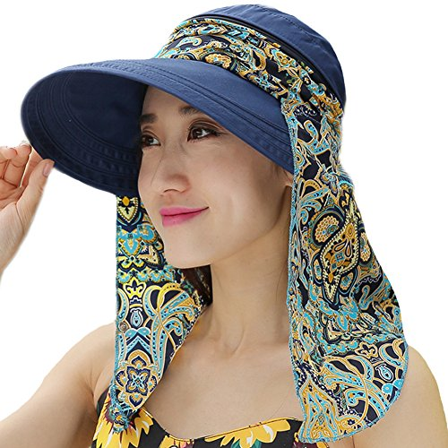 81ed41af8c997 Ladies Summer Beach Cotton Big Brim Foldable Sun Floppy Sunblock Hat Hats  Visor