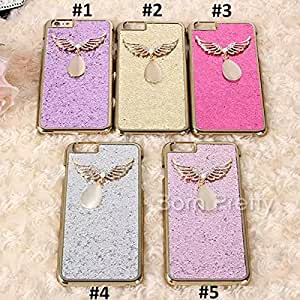 GENERIC 1 Pc Wing Pendant Back Case For iPhone 6s/6s Plus Paillette Protecter Cover Case # 23707(#3(iphoe6s)